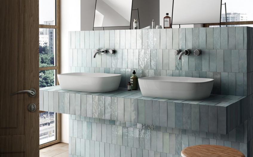 Artisan Aqua Tiles For A Perfect Bathroom