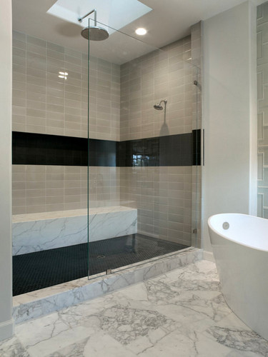 Black Tile Floors Bathroom