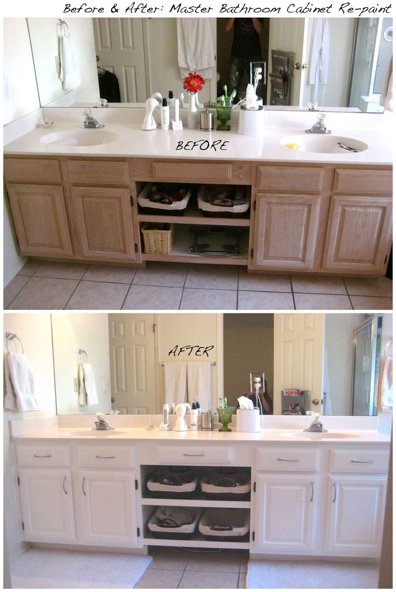 paint a bathroom vanity classy design inspiration bathroom - Bathroom Cabinets Before And After