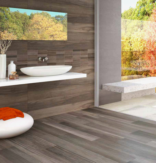 """""""Wood"""" tiles instead of wood floors"""