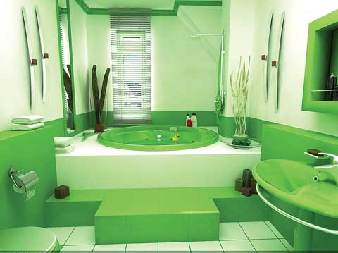 Green Bathroom Suite