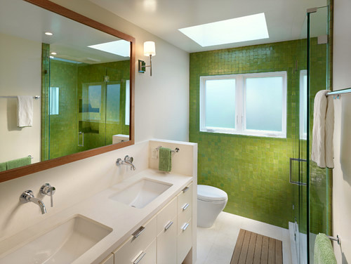 Keep the Irish spirit in your bathroom. Make it green!
