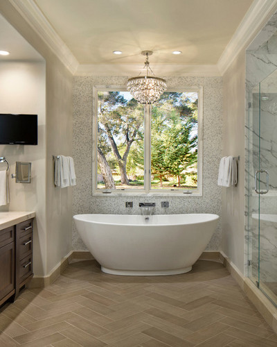 Herringbone Bathroom