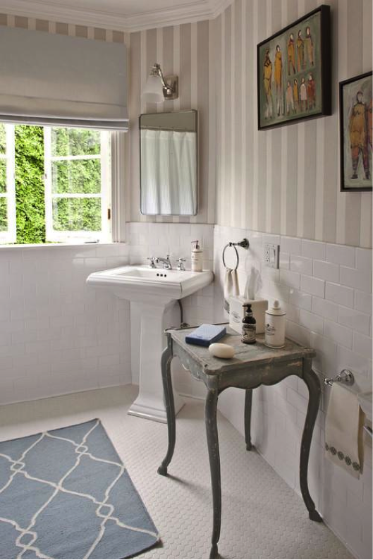 Newest trend: shabby chic bathrooms