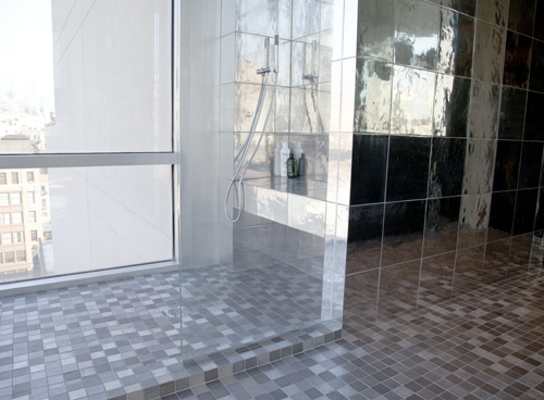 Feeling eco-friendly? How about some recycled metal tile flooring?