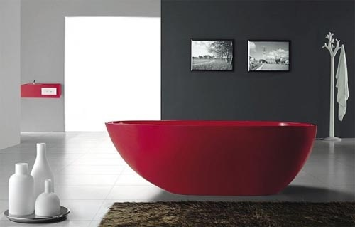 White or colourful bathroom suites?