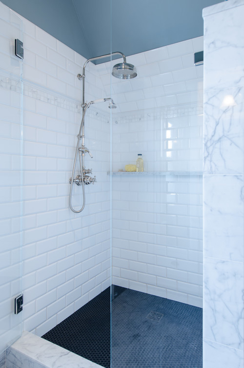Shower Floor Penny Tiles