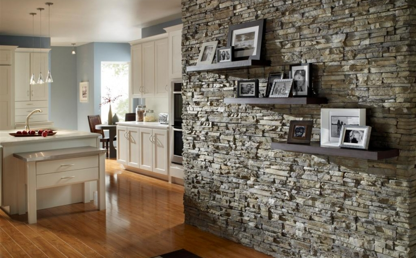 Learn About The Latest Trend In Tiles Stone Stacked Wall