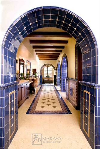 Using tiles in an archway